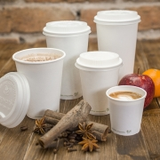 White Hot Paper Cups